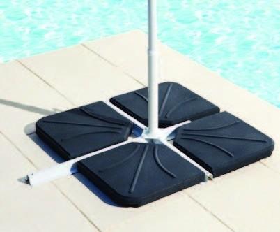 dalle b ton parasol decentre noir 25kg. Black Bedroom Furniture Sets. Home Design Ideas