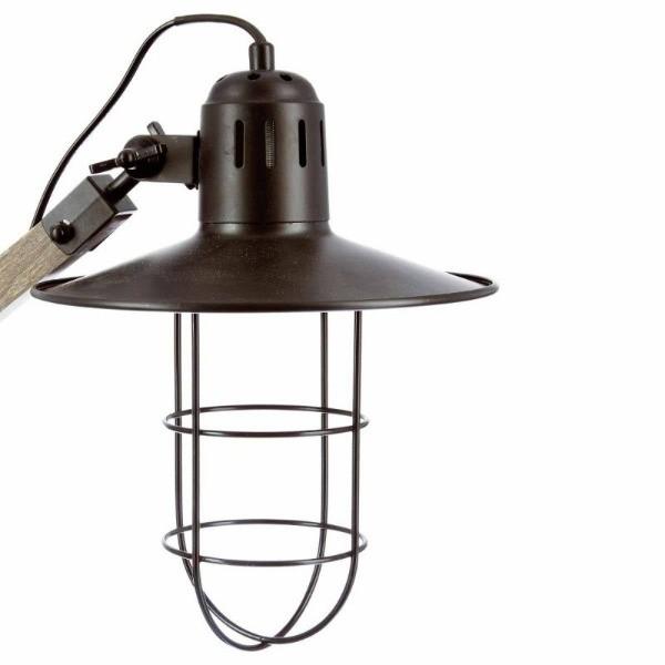 Lampe Bois Metal H 74 Cm